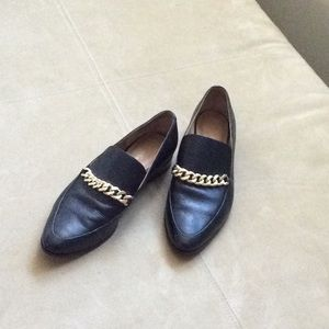 CALVIN KLEIN BLACK LEATHER SHOE NWOT